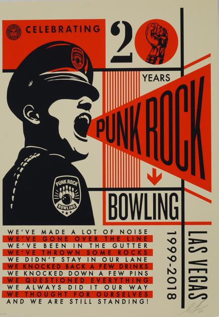 Shepard Fairey, 'Punk Rock Bowling 20th', 2018, Print, Screenprint in colours on cream Speckle Tone paper, Roseberys