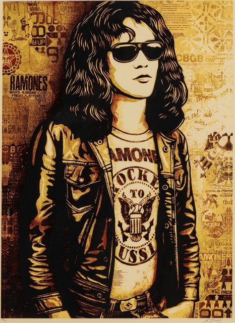Shepard Fairey, 'Tommy Ramone (Gold)', 2016, Forum Auctions