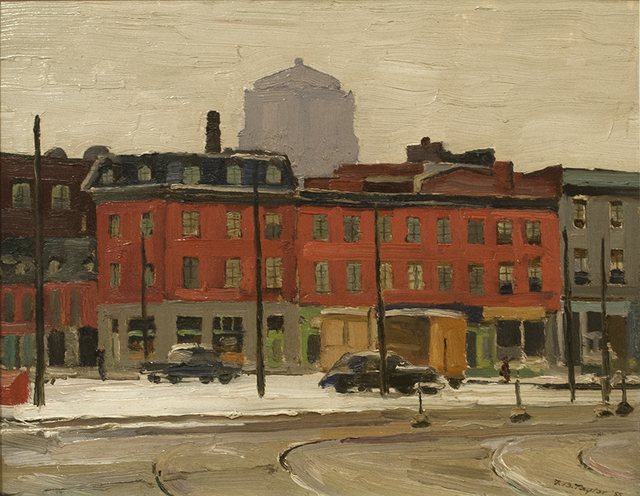 , 'Chaboilley Square, Montreal,' 1955, Canadian Fine Arts