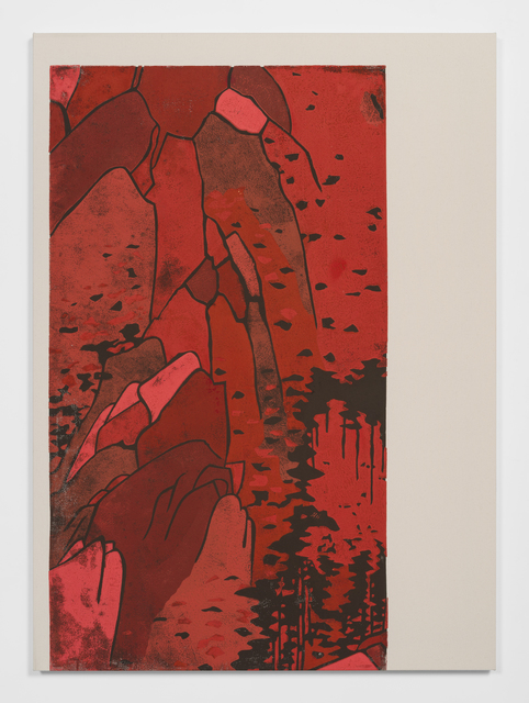Kour Pour, 'Red Monochrome Landscape (Hiroshige)', 2019, Ever Gold [Projects]