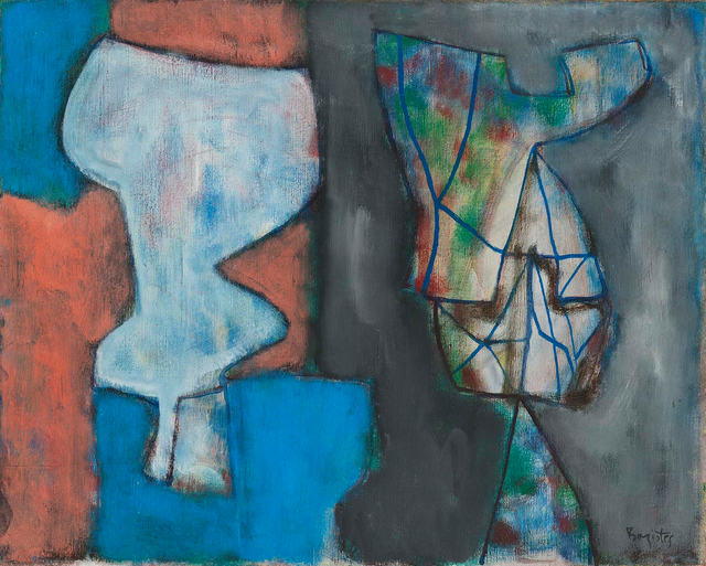 William Baziotes, 'Figurine and Mirror', 1947, Painting, Oil on canvas, Michael Rosenfeld Gallery