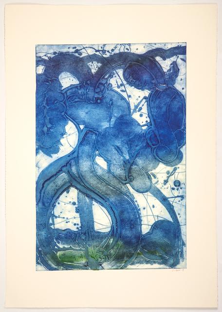 , 'Bouquet (Mum, Ultra Blue),' 2019, Manneken Press