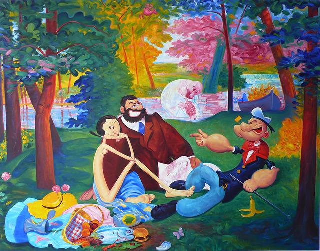 Andre von Morisse, 'Picnic(d'apres Edouard Manet, Le Dejeuner sur l'Herbe) + A Vague Memory of Picnic, ( d'Apres Edouard Manet , Le dejeuner sur l'herbe),' 2013, ART 3