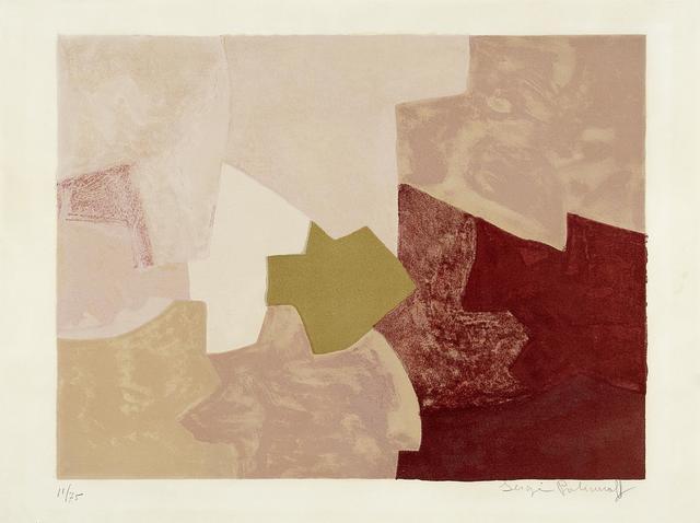 , 'Composition en rose,' 1959, Galerie Philippe David