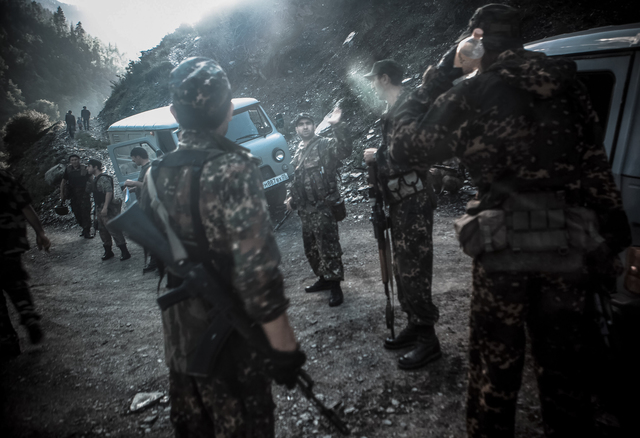 , 'Military Checkpoint at a Mountain Road in Dagestan,' 2012, Galleri Duerr