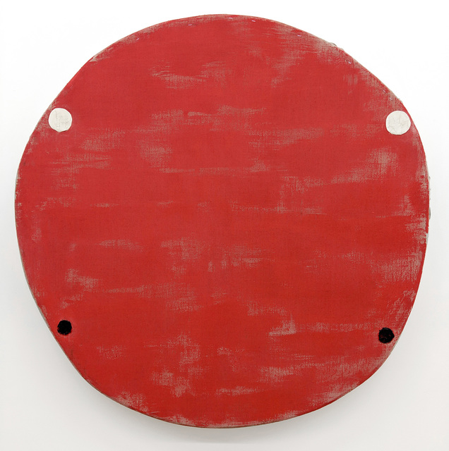 , 'Red Oxide with Two White Two Black Circles,' 2018, Marc Straus