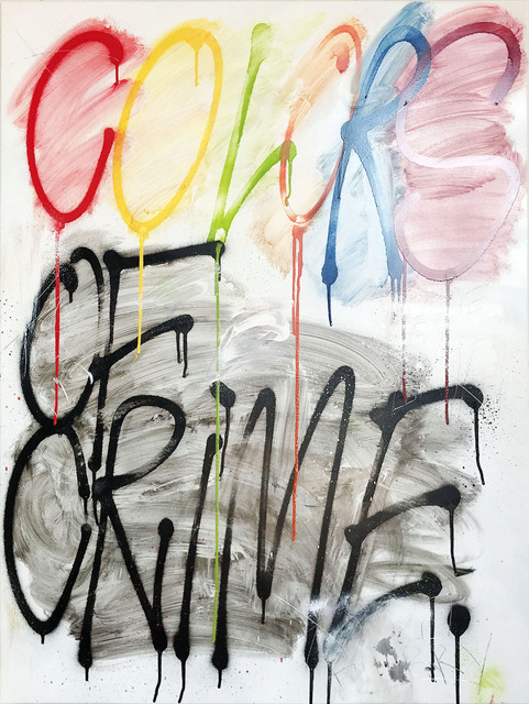 Thierry Furger, 'Crime', 2020, Painting, Spraypaint, acid and scrachtings on aluminiun, KOLLY GALLERY
