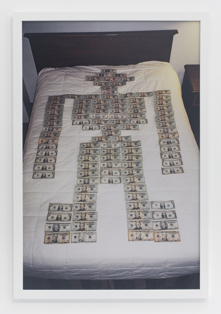 , 'Money robot on bed,' 2016, The Hole