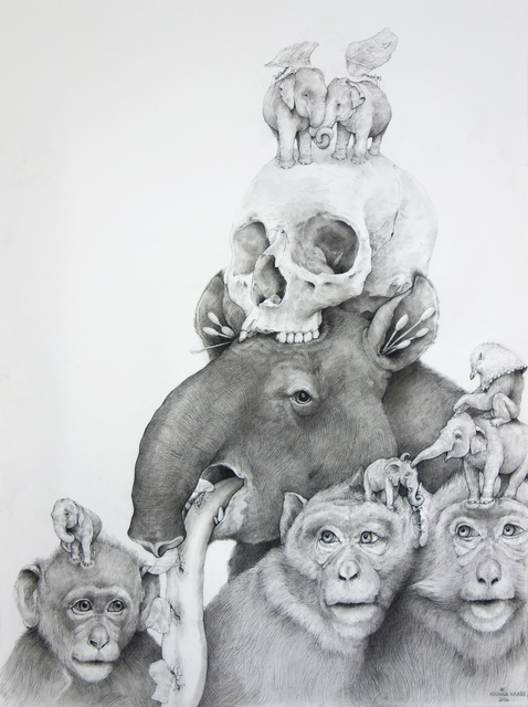 , 'Tapir, Monkeys with Skull,' 2016, Hollis Taggart Galleries