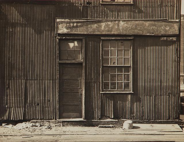 , 'Untitled (corrugated facade study),' 1930-1943, L. Parker Stephenson Photographs