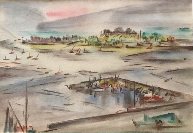 , 'Sailboats Under a Red Sky,' 1946-1952, Lawrence Fine Art