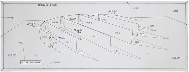Ronald Davis, 'Six Prong - Color Notation', 1974, Print, 25 color screen print, Gemini G.E.L.