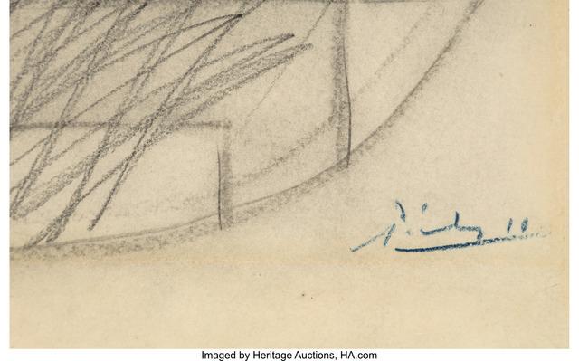 Pablo Picasso, 'Pot et compotier avec fruits', 1919, Other, Pencil on paper, Heritage Auctions