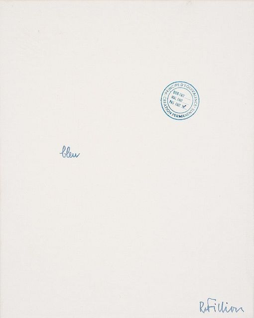 Robert Filliou, 'bleu', 1970, Richard Saltoun