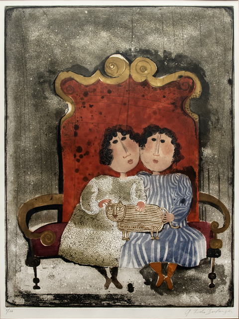 Graciela Rodo Boulanger, 'Two Females on Chair', Unknown, Print, Lithograph, Wexler Gallery