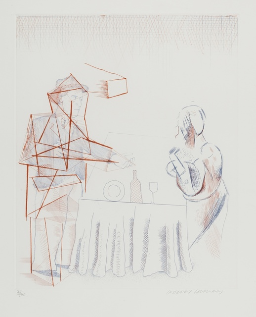 David Hockney, 'Figures with Still Life (S.A.C 187)', 1976-77, Forum Auctions