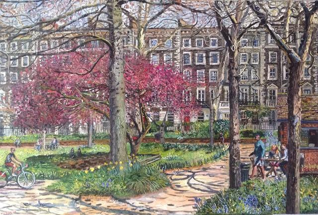 , 'Gordon Square in spring sunshine,' 2018, Robert Eagle Fine Art