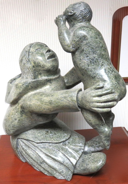 , 'Mother holding her infant,' ca. 1998, Arctic Experience McNaught Gallery