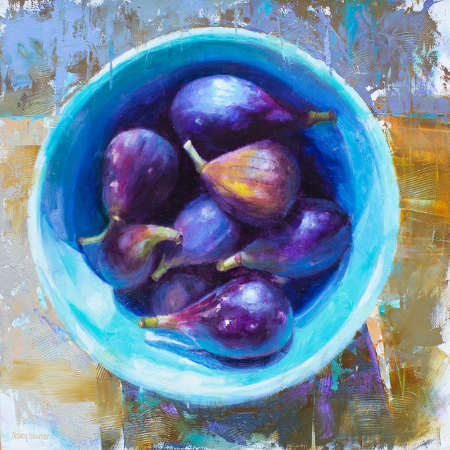 , 'Figs in Blue,' 2018, Meyer Vogl Gallery