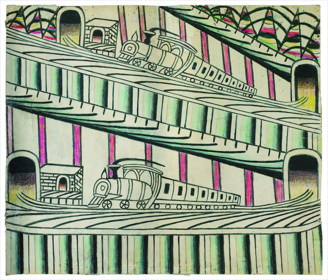 , 'Untitled (Trains on Inclined Tracks),' ca. 1960, Ricco/Maresca Gallery