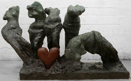 , 'Five Colorful Dancers, One Bronze Heart,' 2009, Galerie de Bellefeuille