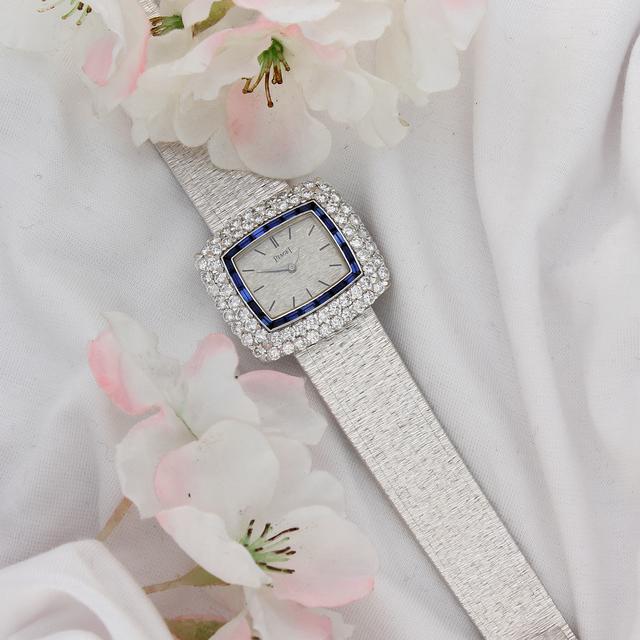 , 'Piaget 18ct Gold, Diamond and Sapphire Bracelet Watch,' ca. 1970, Somlo London