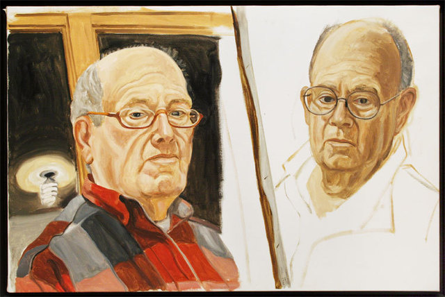 , 'Self-Portrait: Two Sketches,' 2001, Betty Cuningham