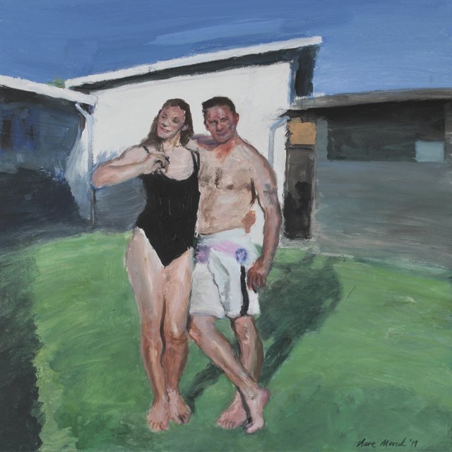 , 'Bather couple on a lawn ,' 2019, 99 Loop Gallery
