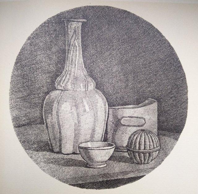 , 'Grande natura morta con bottiglia e tre oggetti ,' 1944, Repetto Gallery