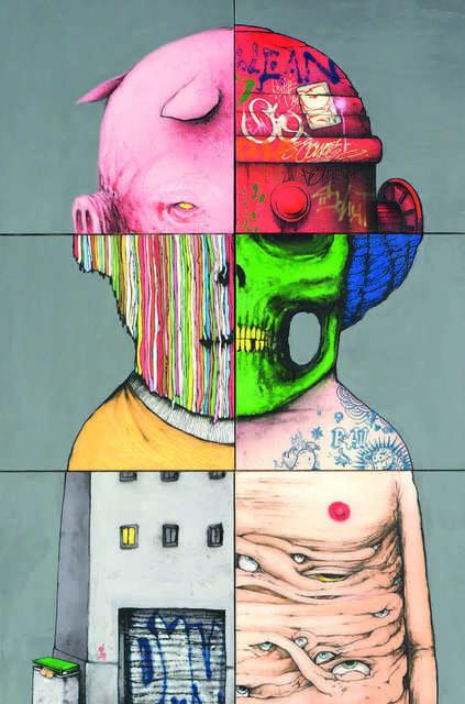 DRAN & BRUSK (Da Mental Vaporz), 'Exquisite corpse', Digard Auction