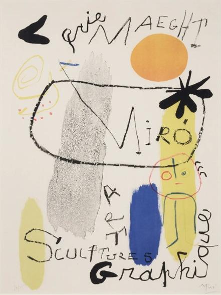 Joan Miró, 'Affiche D'Exposition', 1950, Zuleika Gallery