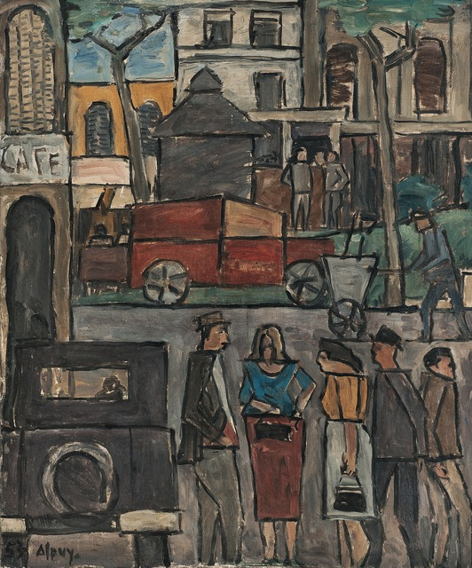 , 'Escena de ciudad,' 1953, Galería de las Misiones