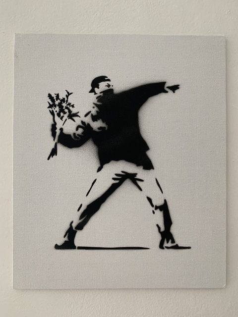"Banksy, 'BANKSY DISMALAND ""FLOWER THROWER"" WITH COA', 2015, Arts Limited"