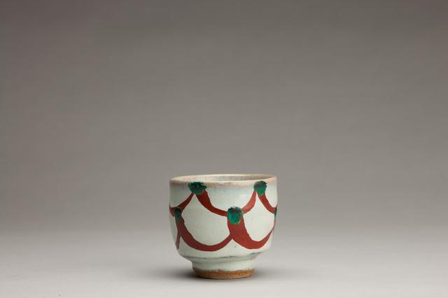 Shinsaku Hamada, 'Chawan, white glaze with akae decoration', Other, Stoneware, Pucker Gallery