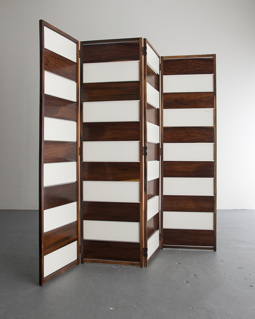 , 'Screen in jacaranda and white lacquered wood panels,' ca. 1953, R & Company