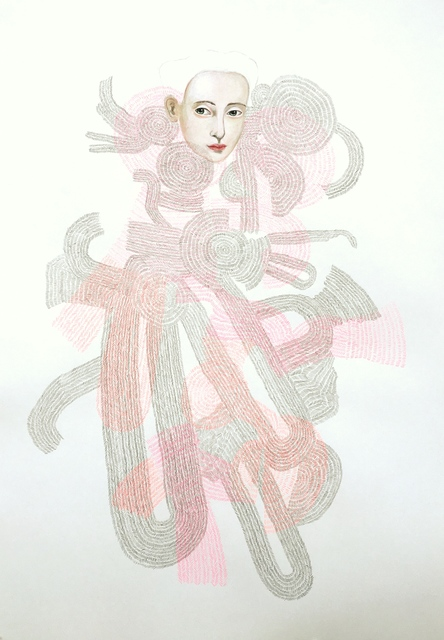 Anne Siems, 'Weaver Drawing', 2017, Drawing, Collage or other Work on Paper, Acrylic and pencil on paper, Wally Workman Gallery