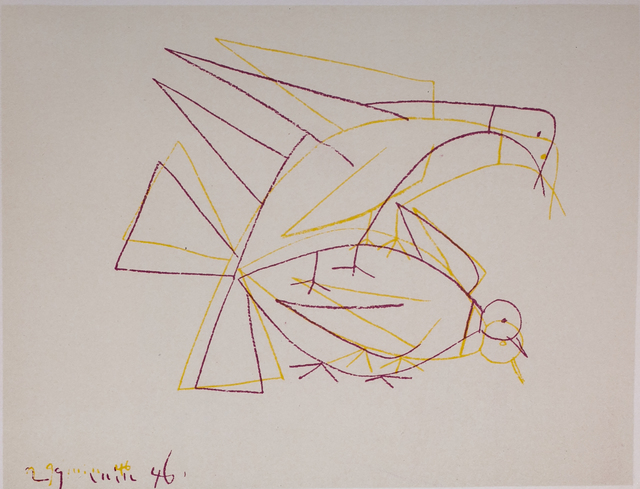Pablo Picasso, 'Les Deux Tourterelles Doubles (The Two Double Turtle Doves), 1949 Limited edition Lithogrph by Pablo Picasso', 1949, White Cross