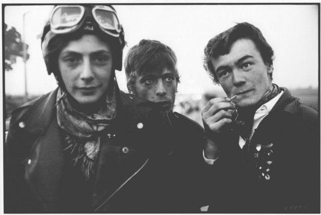 John 'Hoppy' Hopkins, 'Bikers at the Ace Café, London', 1964, Photography, Hand-Printed Silver Gelatin print, ElliottHalls