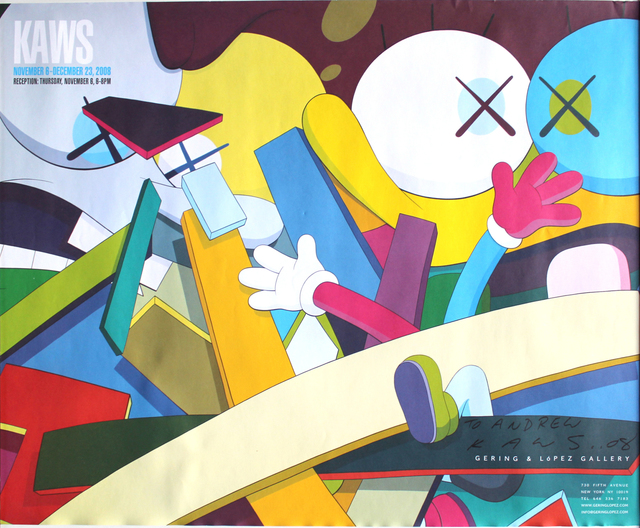 KAWS, 'SIGNED exhibition poster', 2008, Offset lithograph, EHC Fine Art Gallery Auction
