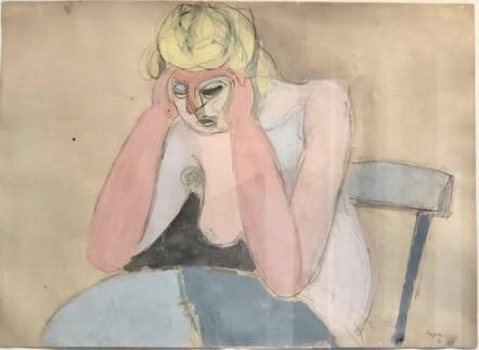 , 'Femme acoudée,' 1946, Rosenberg & Co.
