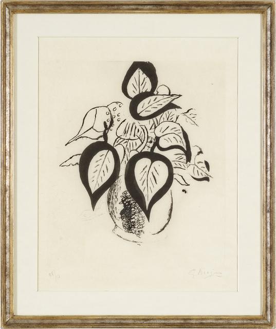 , 'Feuillage noir,' 1956, Bode Gallery