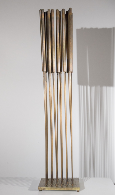 Harry Bertoia, 'Untitled', ca. 1968, Sculpture, Beryllium copper rods with bronze cattails silvered to brass base, Taylor | Graham