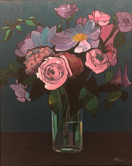Kevin Morris, 'Flowers on Peacock Green', 2017, Cerbera Gallery