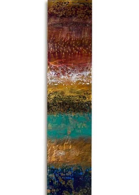 Ken Rausch, 'Rhythm Copper Series III', 2020, Sculpture, Mixed Media on Copper, Art Leaders Gallery