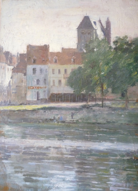Theodore Robinson, 'View of Vernon, Giverny done in 1888', 1888, ArtGiverny