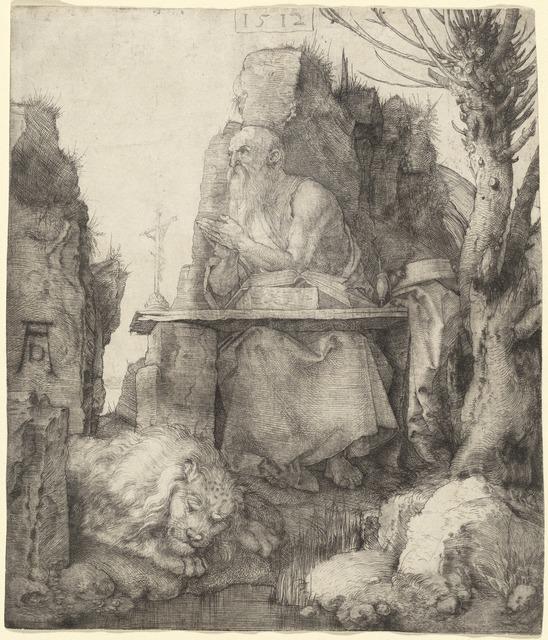 Albrecht Dürer, 'Saint Jerome by the Pollard Willow', 1512, National Gallery of Art, Washington, D.C.