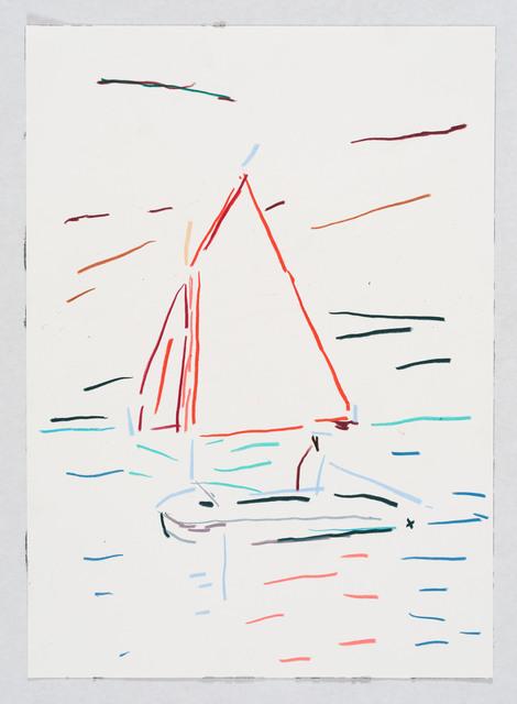 , 'Red boat,' 2017, Flatland Gallery