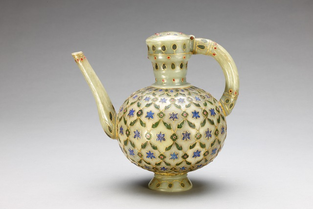 Unknown Artist, 'One-Handled Jug Inlaid with Gold and Precious Stones', 18, Art Museum of the Chinese University of Hong Kong