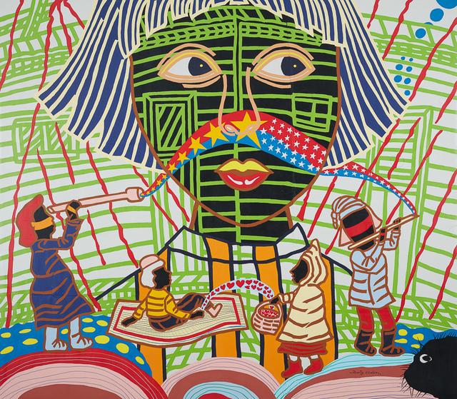 Boris Nzebo, 'Au Pays des merveilles', 2017, Painting, Acrylic on canvas, Jack Bell Gallery