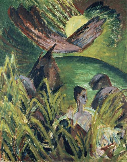 , 'Mondaufgang auf Fehmarn,' 1914, Museum Kunstpalast